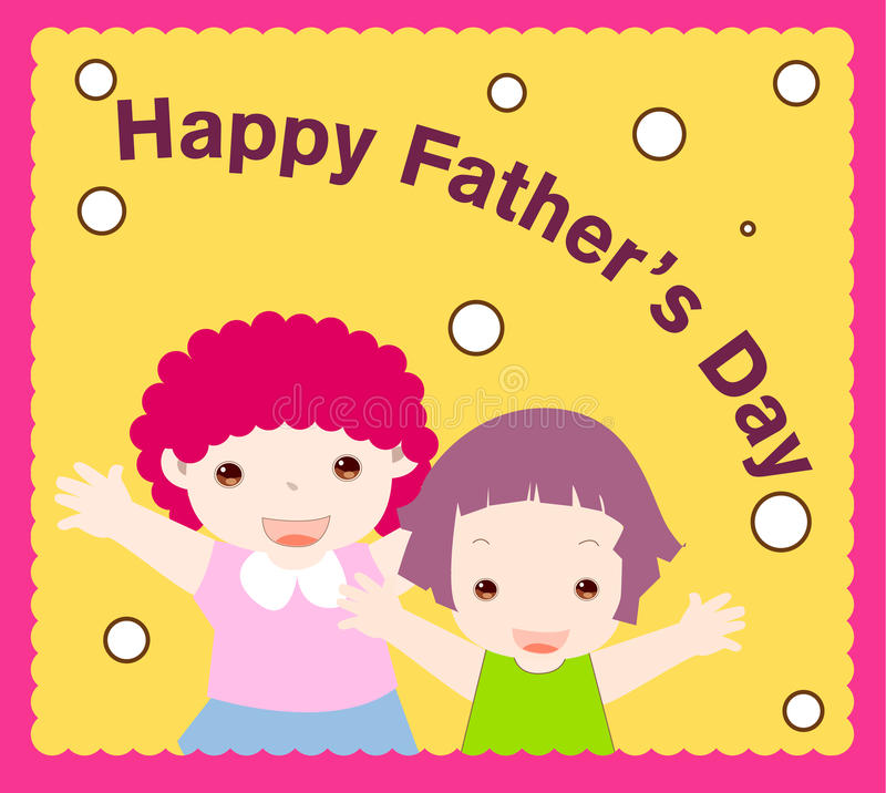 Download Happy father's day stock vector. Image of girls, caring - 11269256