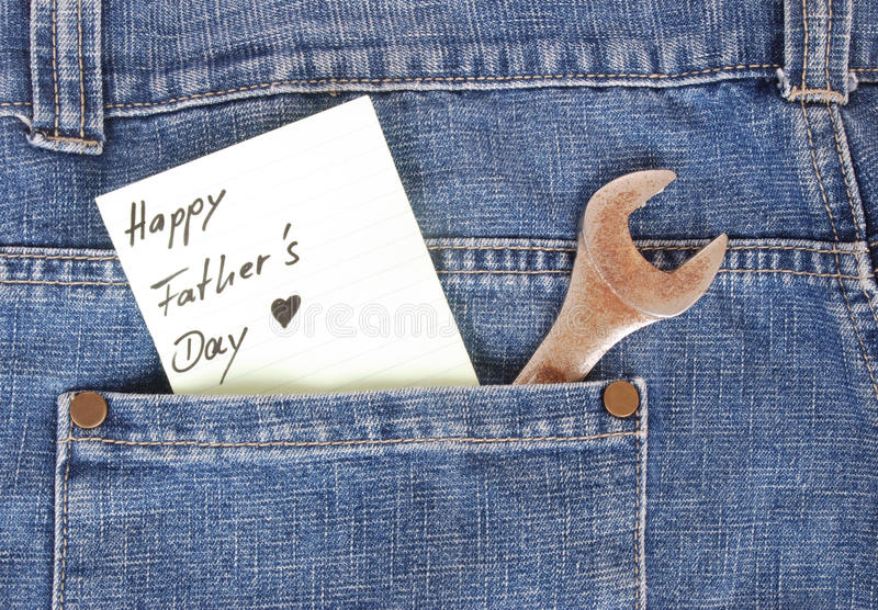 Happy Fathers Day concept stock image