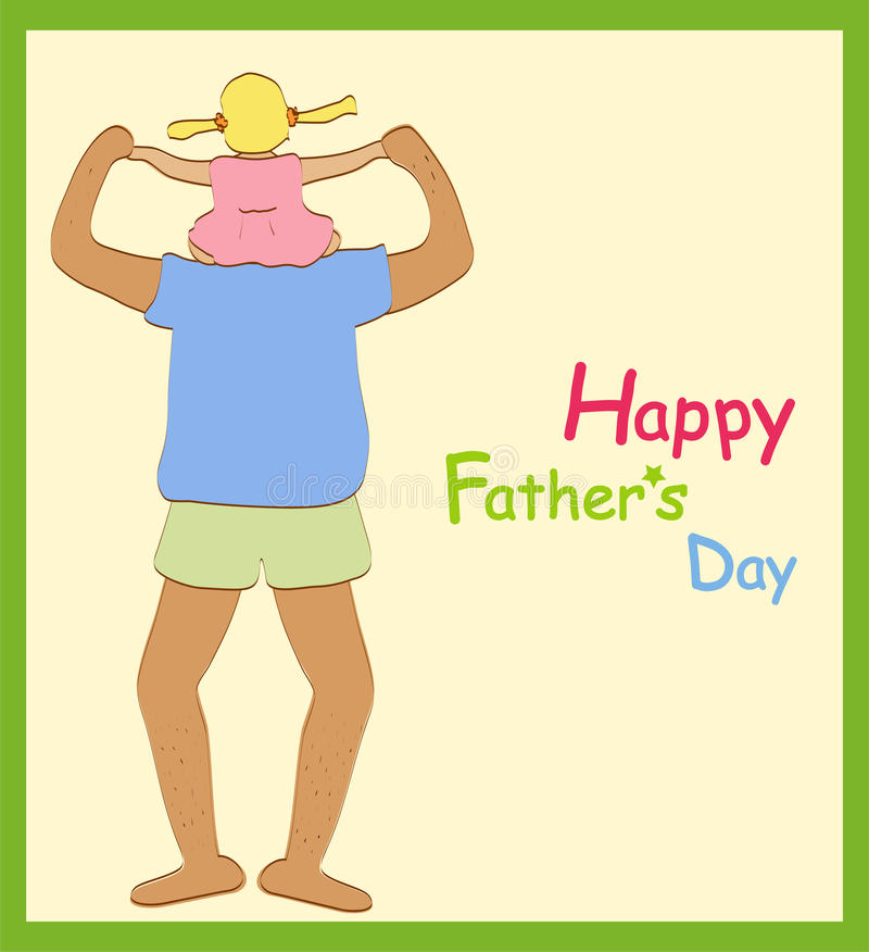 Download Happy father's day stock vector. Image of fathering, play - 9740463