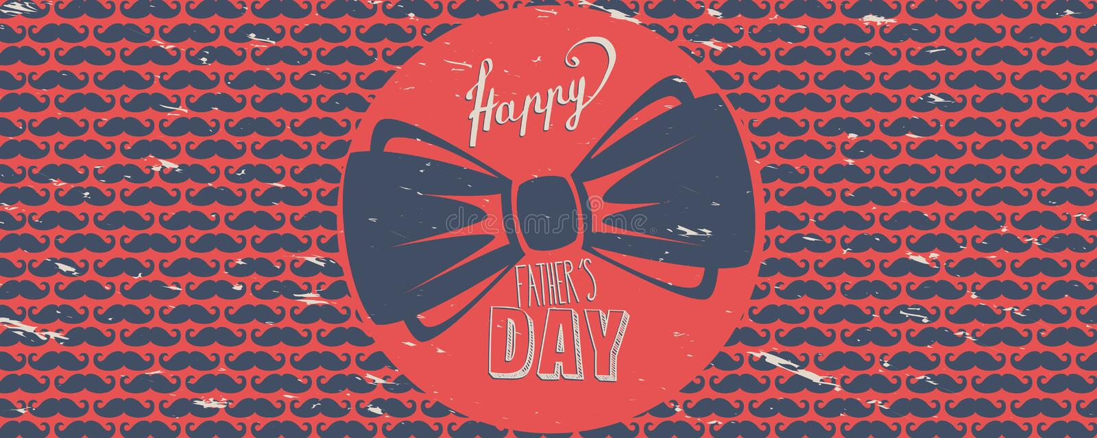 Happy Father`s day banner royalty free illustration