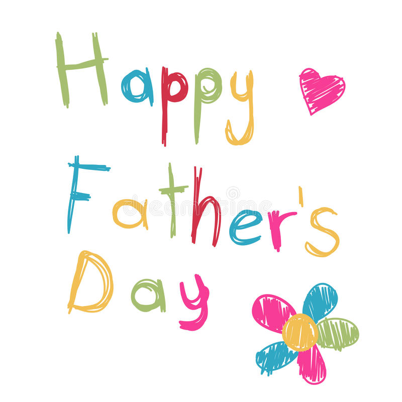 Download Happy father's day card stock vector. Image of doodle - 24847142