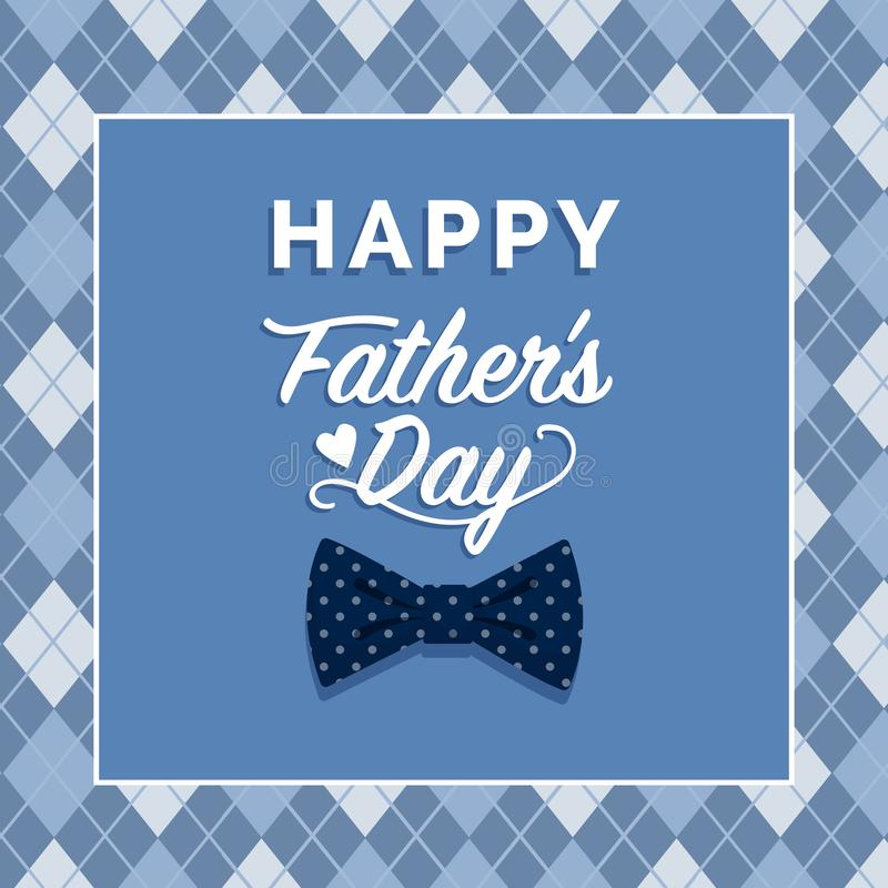 Free Happy Father`s Day Card With Wishes Stock Photo - 143651340