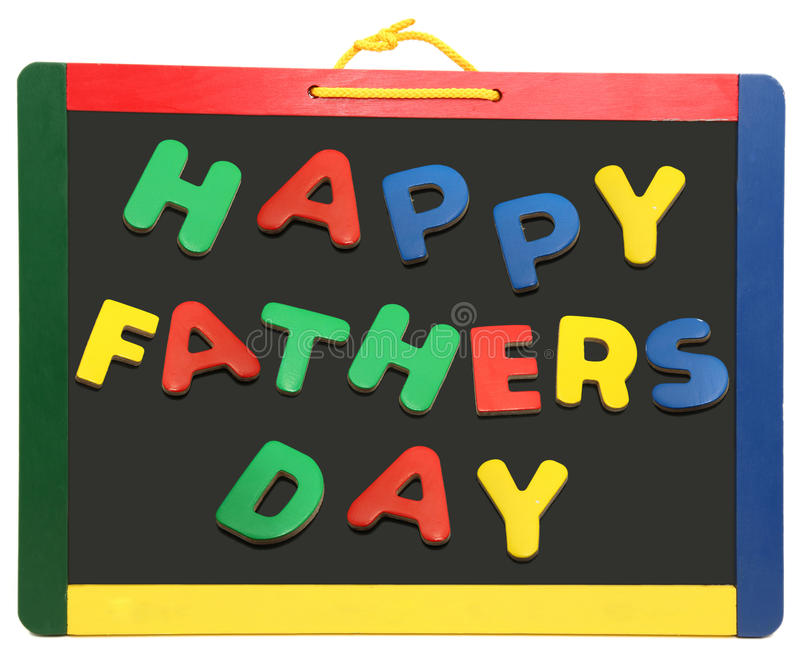 Happy Father S Day On Chalkboard Royalty Free Stock Photo