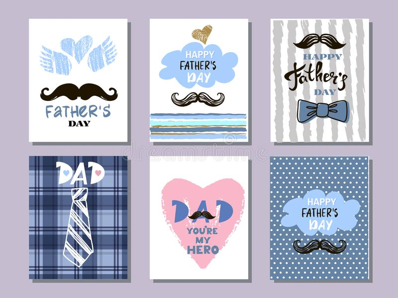 Father`s day collection cards10 royalty free stock photography