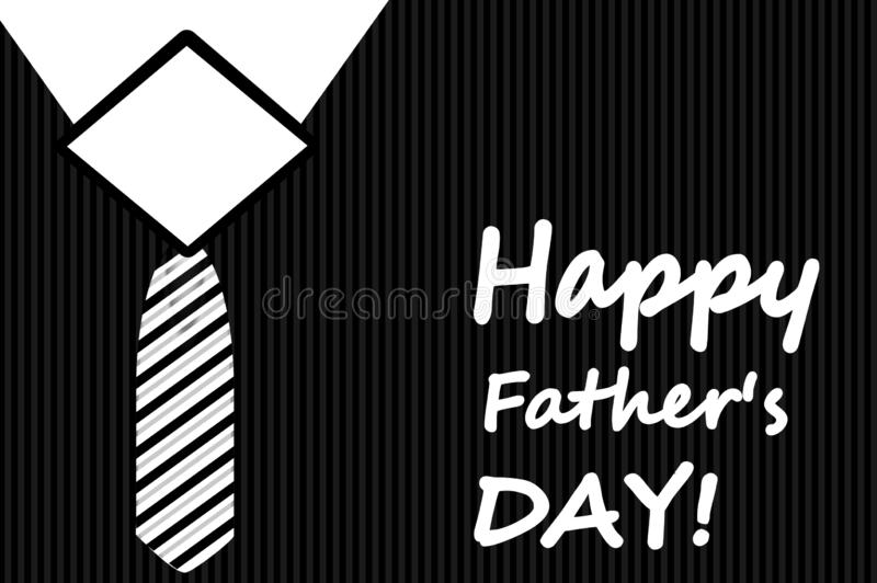 Happy father's day concept illustration greeting card design background. Fathers, family, gentleman, make, adult, business, black, dark, white, art, text vector illustration