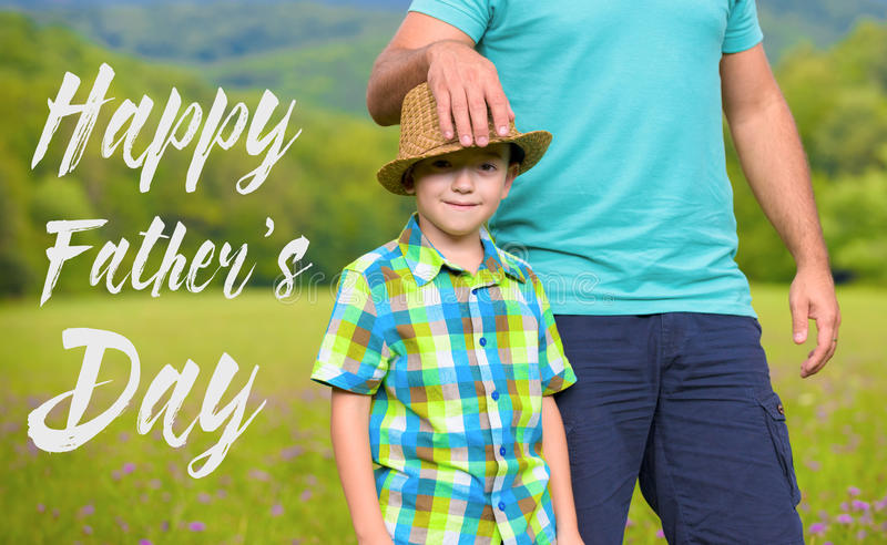 Happy father`s day concept royalty free stock images