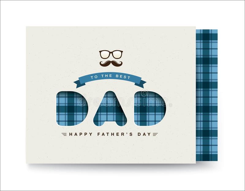 Happy Father`s Day stock illustration