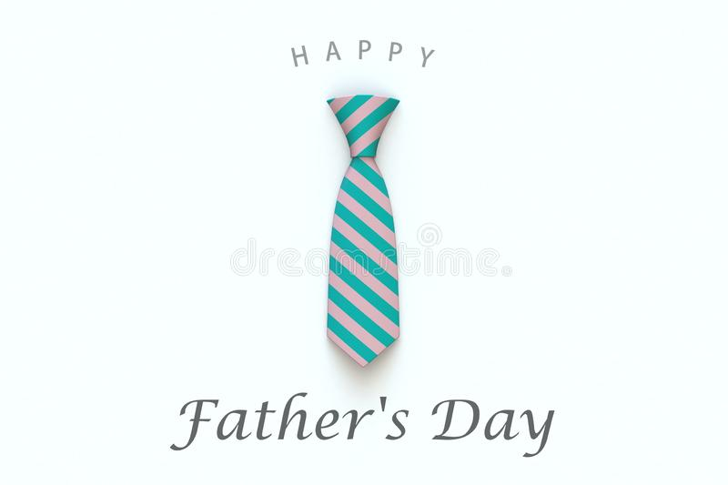 Happy Father's Day greeting card on white background vector illustration