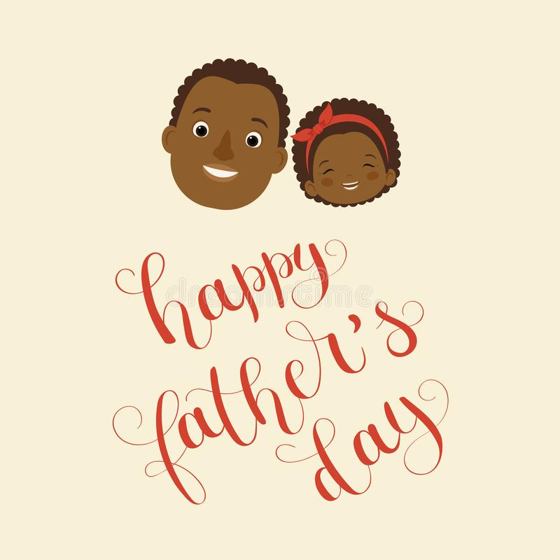 Happy Father`s Day vector illustration. stock illustration