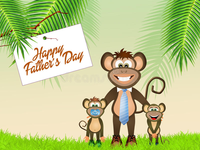 Download Happy father's day stock illustration. Illustration of together -  52867673