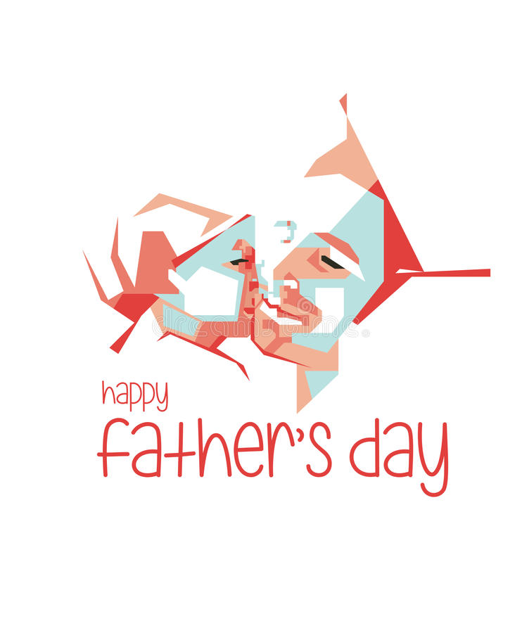 Happy Father\'s Day Simple Line And Simple Colour Vector Portrait/eps ...