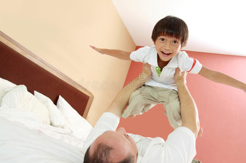 Download Happy father and son stock photo. Image of life, caucasian - 25856418