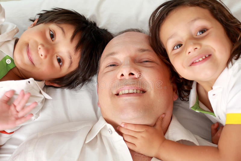 Download Happy father and son stock image. Image of family, hugging - 25856427