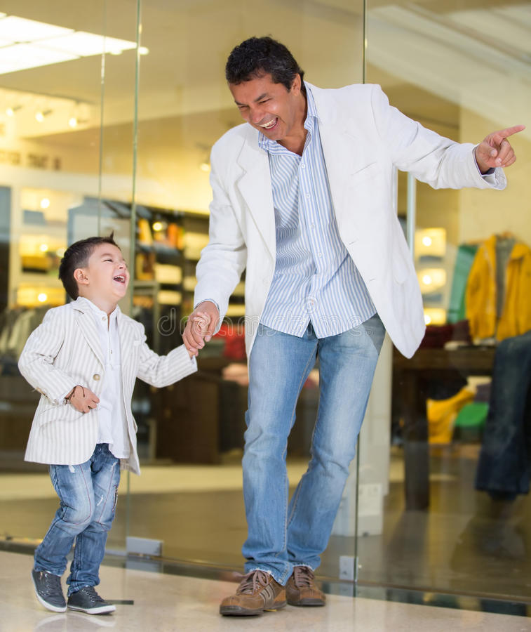 Download Father and son shopping stock photo. Image of family - 30042540
