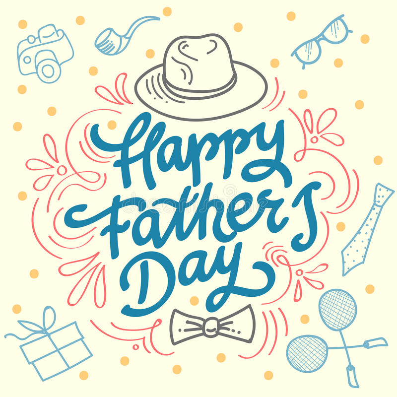 Happy fathers day best dad. royalty free stock photography