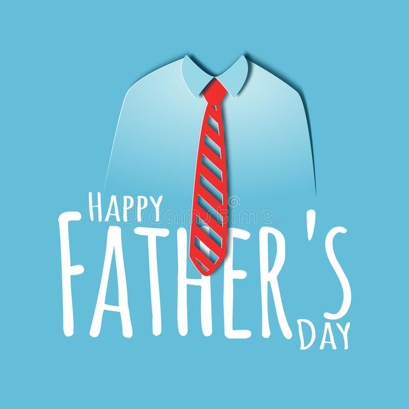 Happy fathers day paper cut card royalty free illustration