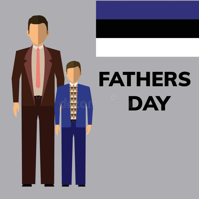 Happy Fathers Day flyer royalty free stock photo
