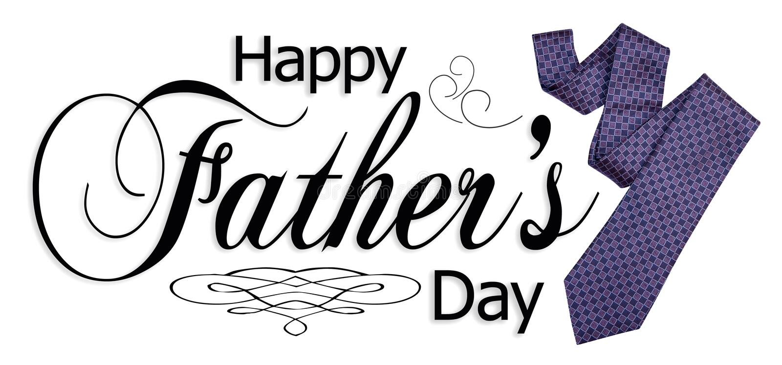 Happy Fathers Day Graphic stock illustration