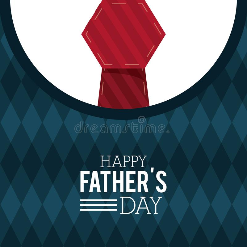 Happy fathers day greeting card lettering sweater red tie download happy fathers day greeting card lettering sweater red tie decoration invitation stock vector stopboris Image collections