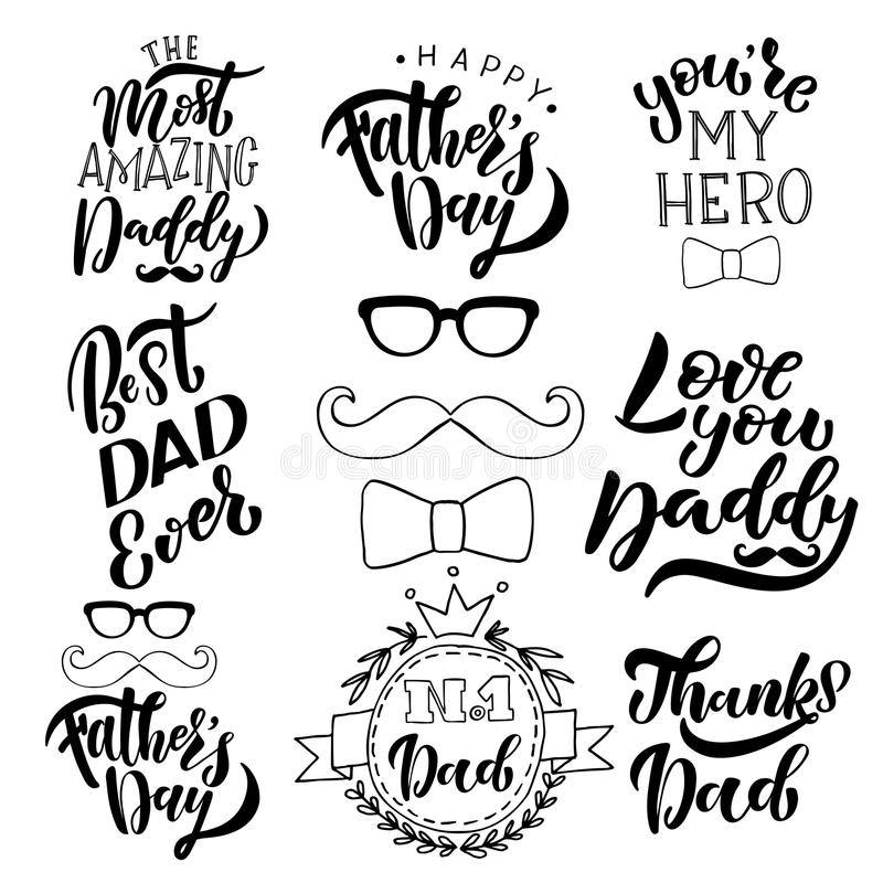 Happy Fathers Day Greeting Card Template royalty free stock photos