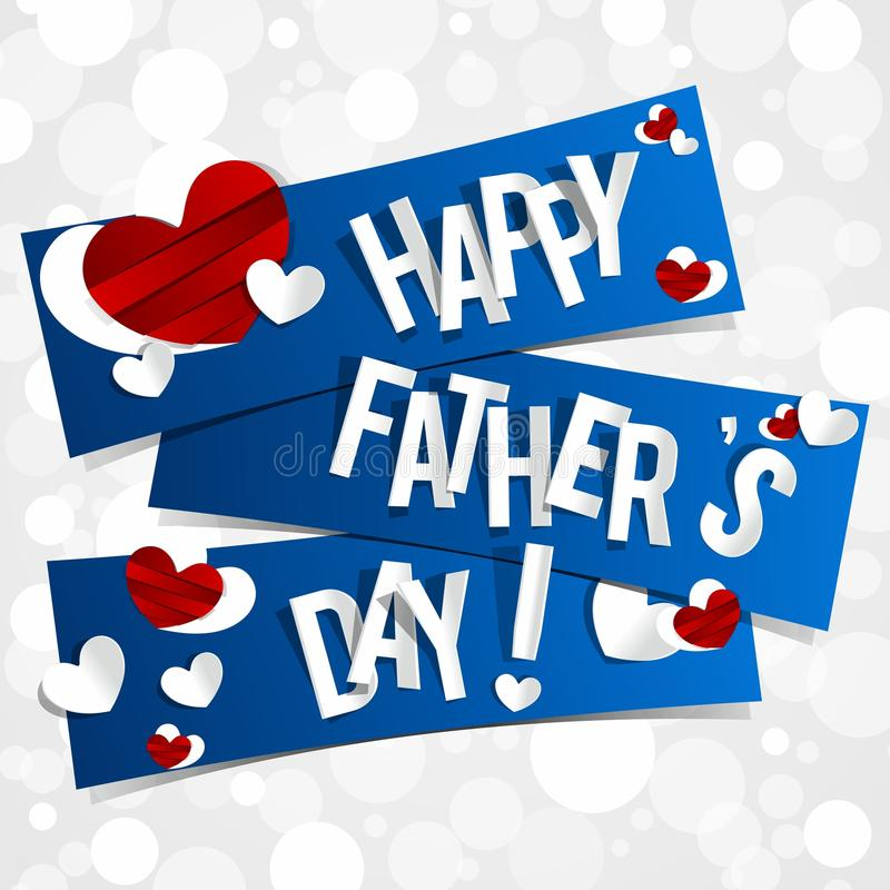 Happy Fathers Day Greeting Card royalty free illustration