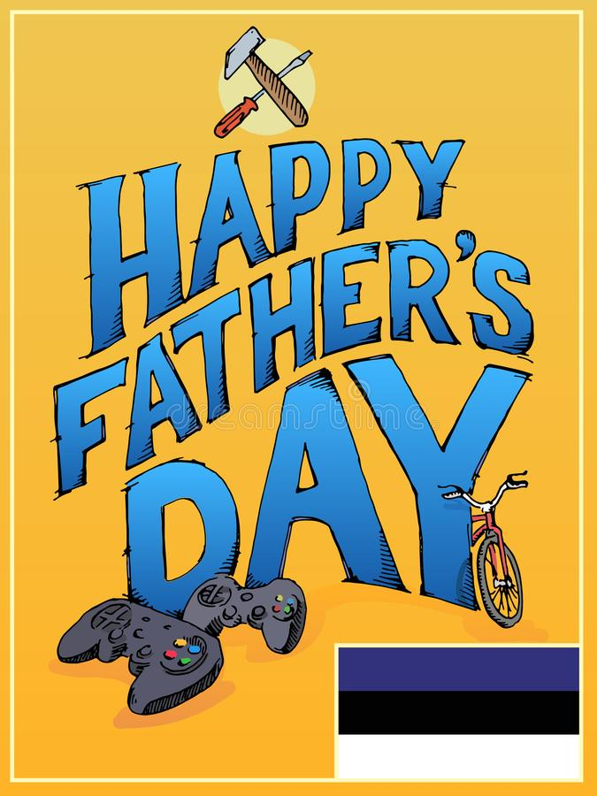 Happy Fathers Day flyer royalty free stock image