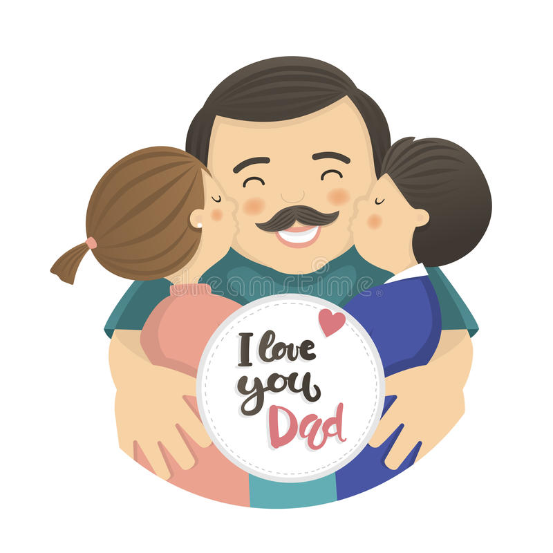 Happy fathers day scene vector illustration