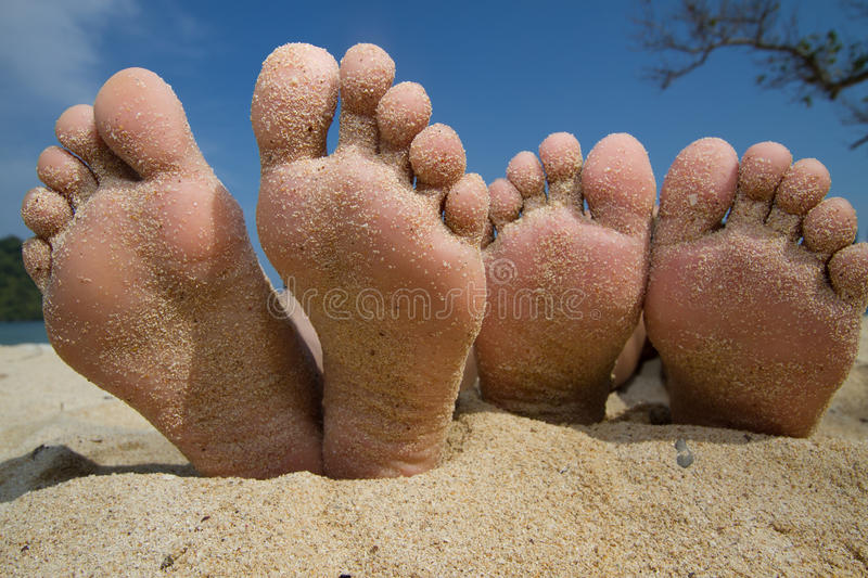 Download Happy Feet in the Beach stock image. Image of outdoor - 18160467