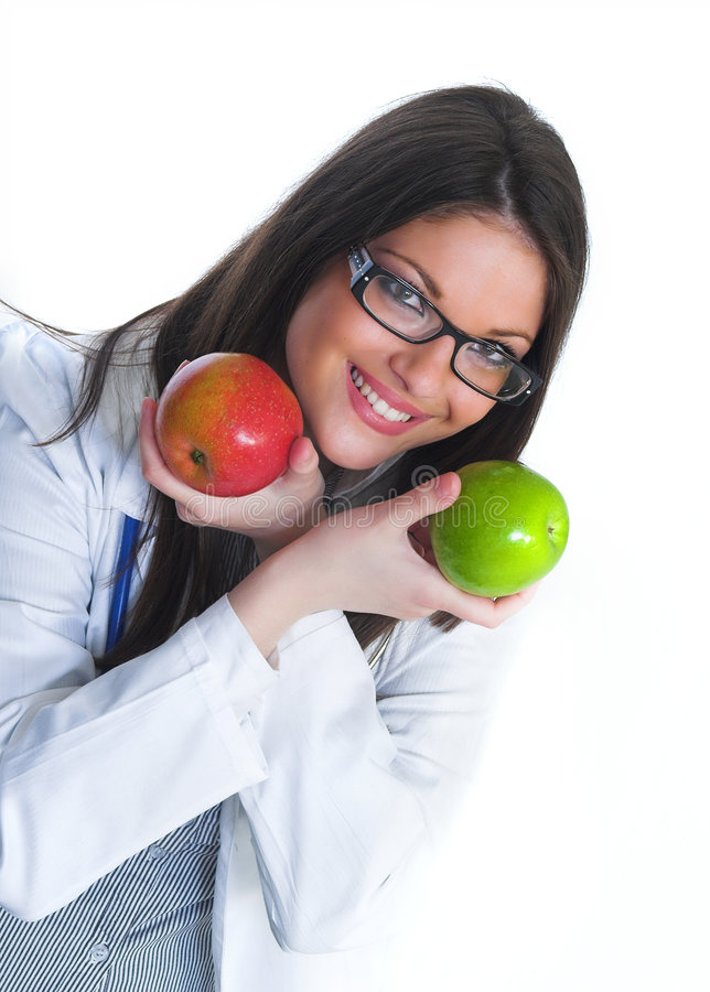 Happy female doctor royalty free stock images
