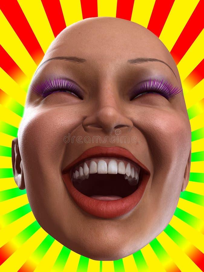 Download Happy Female Face stock illustration. Illustration of color - 9309566