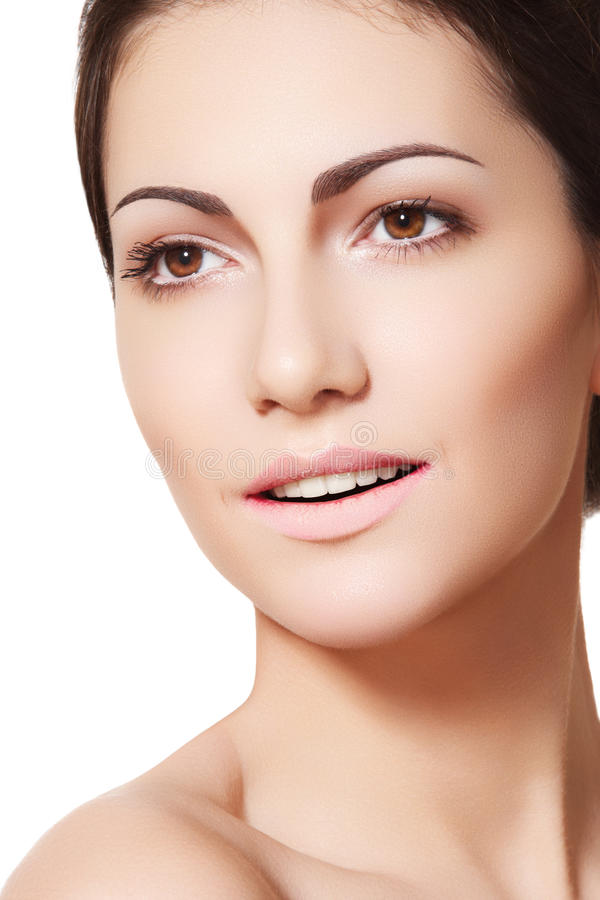 Free Happy Female Model Face With Healthy Clean Skin Royalty Free Stock Photography - 19170217