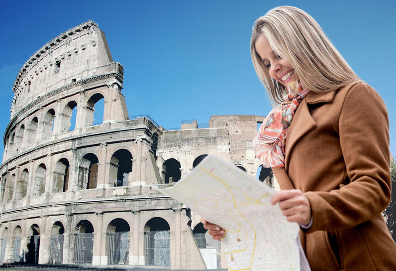 Download Tourist in Rome stock image. Image of joyful, content - 29781013