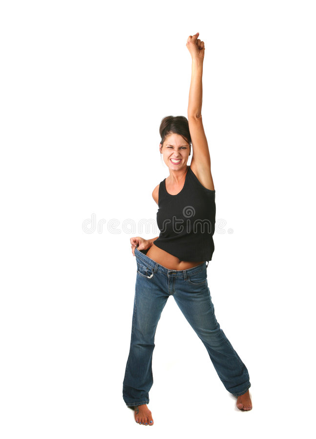 Download Happy Female Who Met Goal stock photo. Image of blond - 2985796