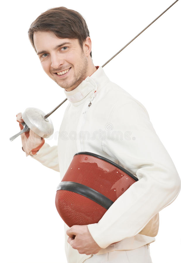 Download Happy Fencer With Rapier Foil Stock Photo - Image: 28684046
