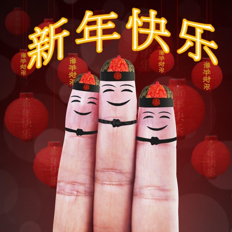 Happy Finger Smileys royalty free stock photos