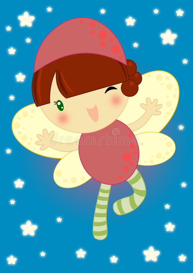 Download Happy firefly fairy stock illustration. Image of blue - 17787653