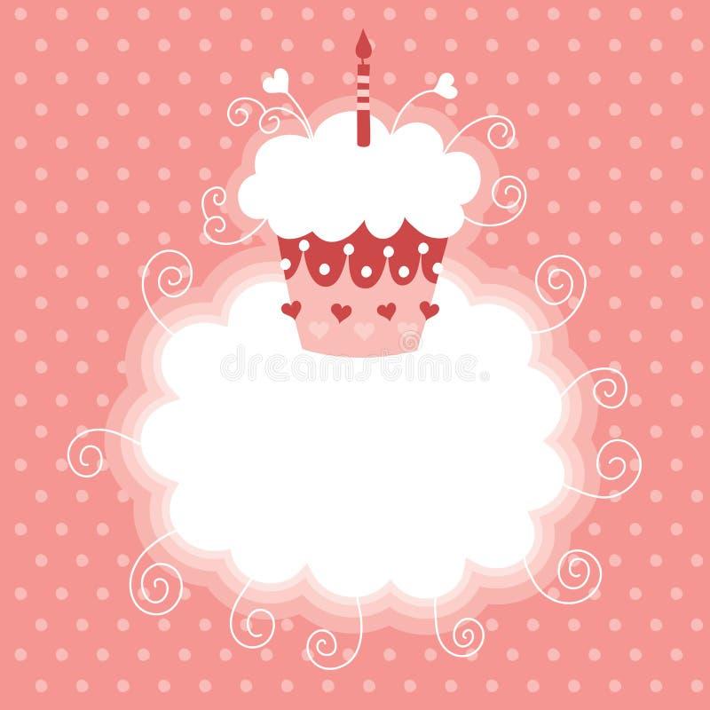 Happy First Birthday. Greeting card royalty free illustration
