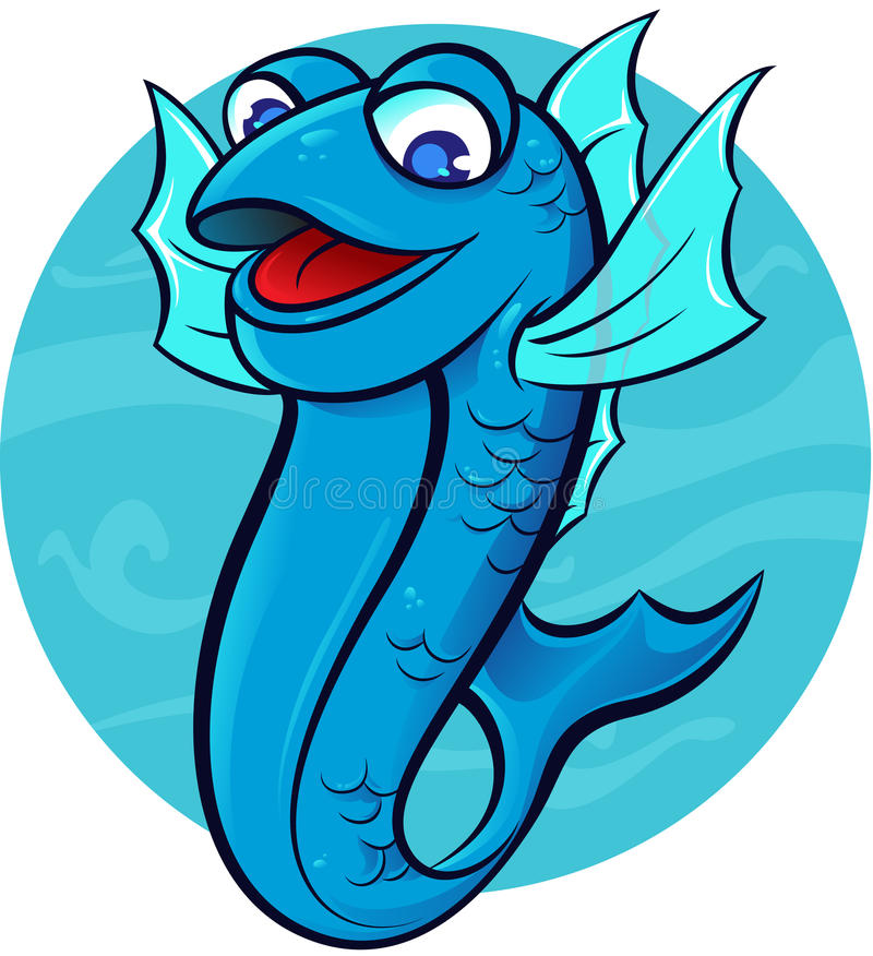 Happy fish stock illustration