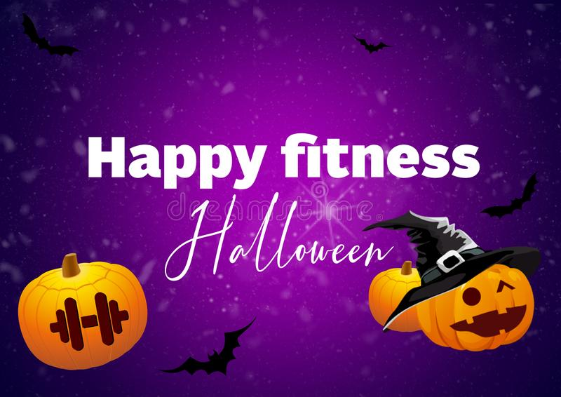 Happy fitness Halloween motivation for your better workout royalty free stock photo