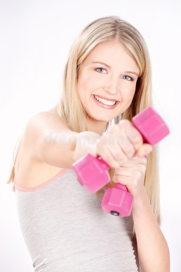Download Happy fitness woman stock image. Image of calories, blue - 22834399