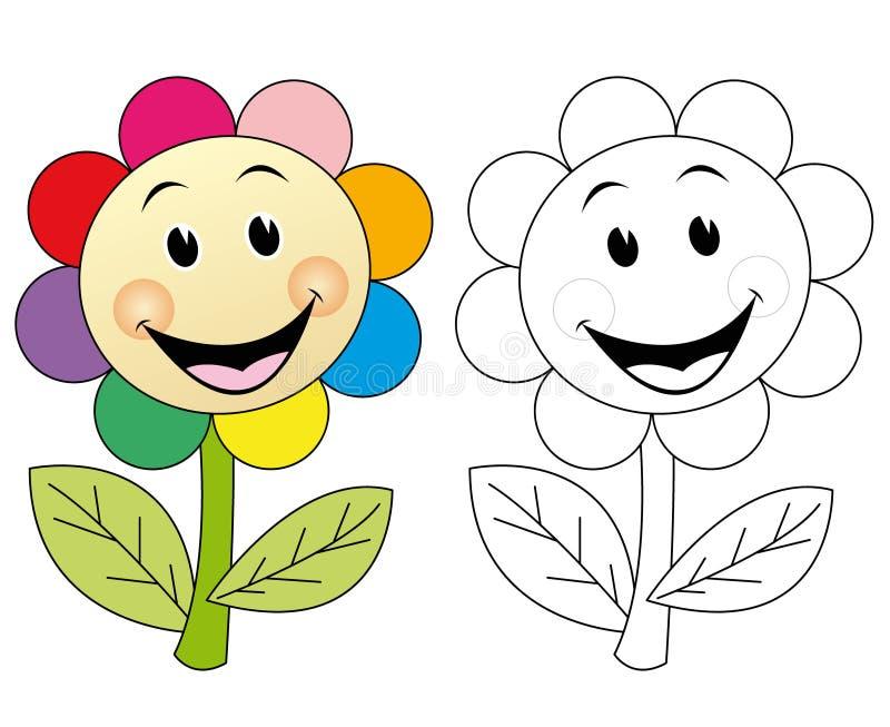 Happy flower stock illustration