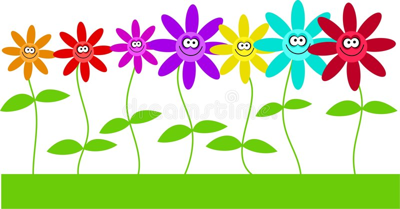 Happy flowers stock illustration