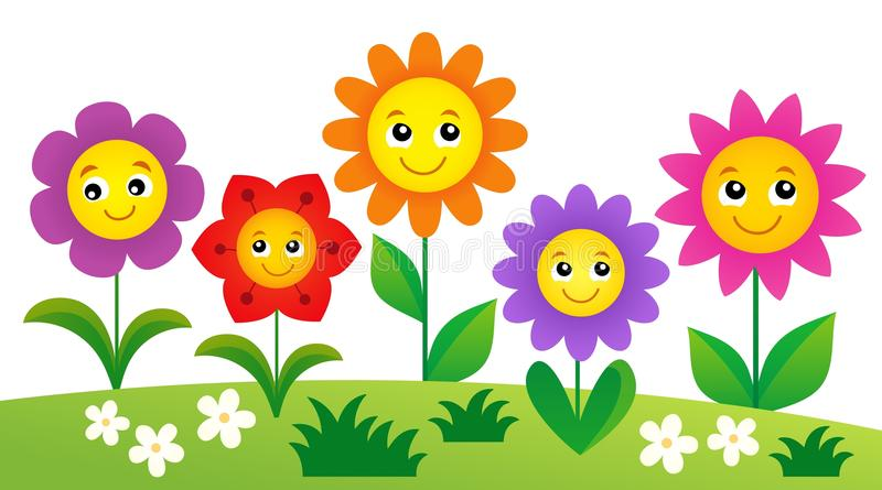 Happy flowers topic image 4 vector illustration