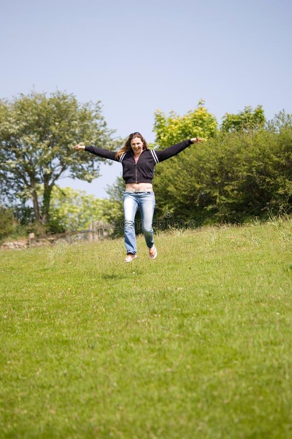 Happy flying royalty free stock photos