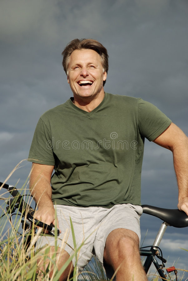 Happy forties man