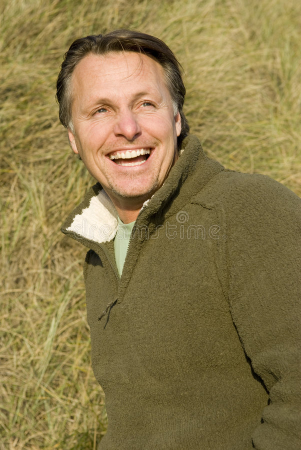 Download Happy forties man stock photo. Image of laughing, watching - 7492762