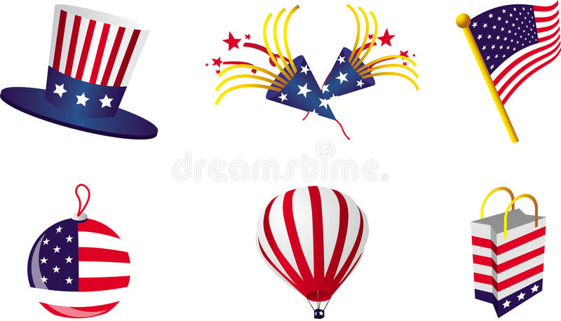 Happy Fourth Of July!. Sleek and iconic illustrations of the 4th of July celebration vector illustration