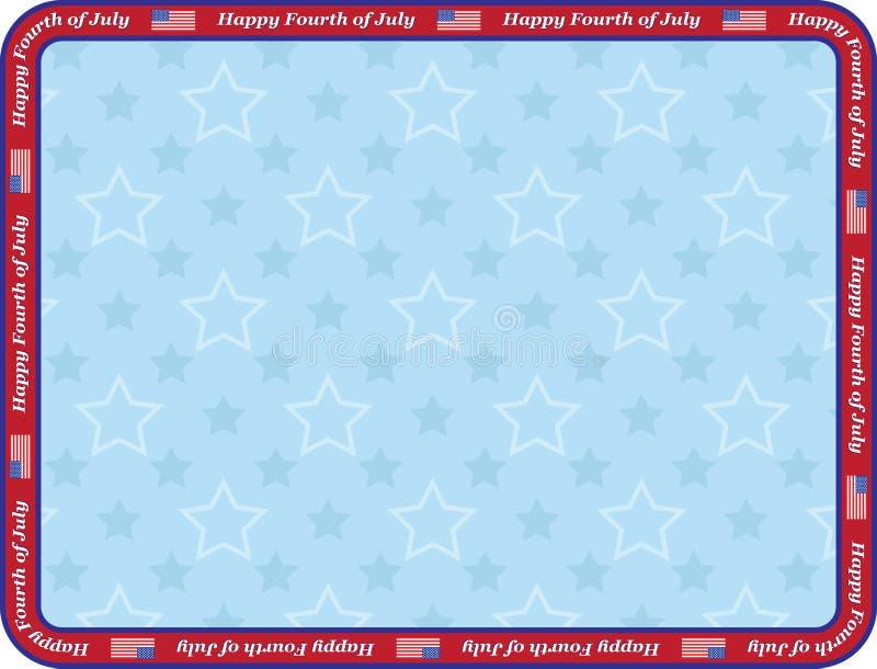 Happy Fourth of July royalty free illustration