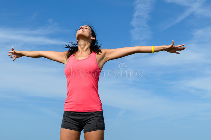 Download Happy free girl stock photo. Image of peace, freedom - 26341012