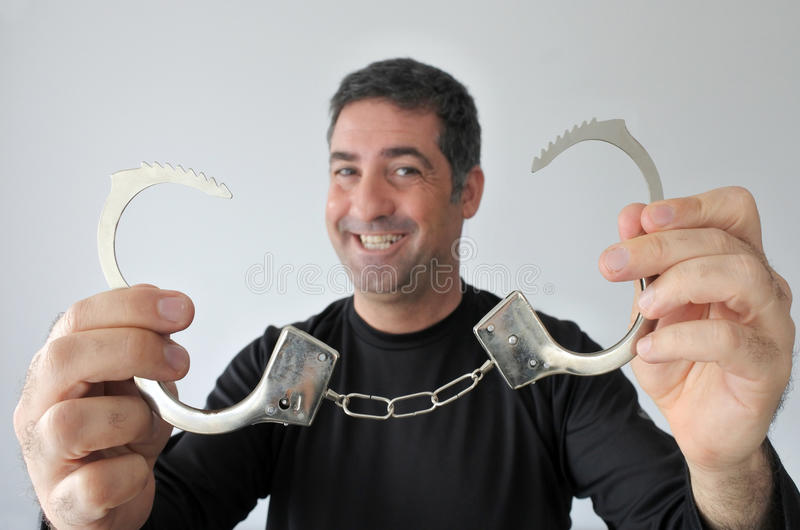 Happy free man stock photos